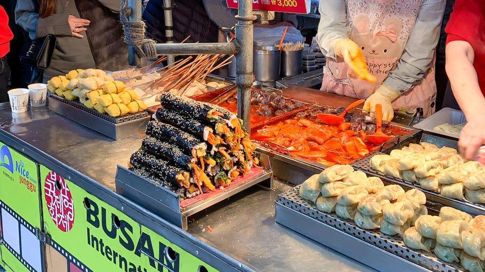 Gimbap Busan Market