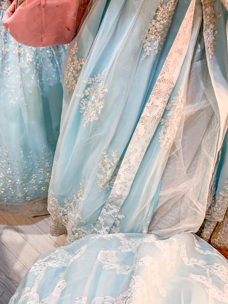 Seoul Hanbok rental blue, South Korea