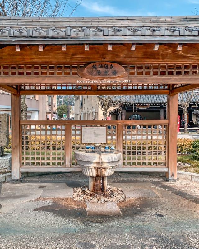 Kinosaki Onsen, drinking fountain