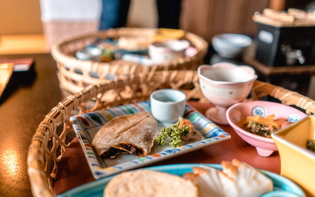 Grilled fish, Japanese style breakfast