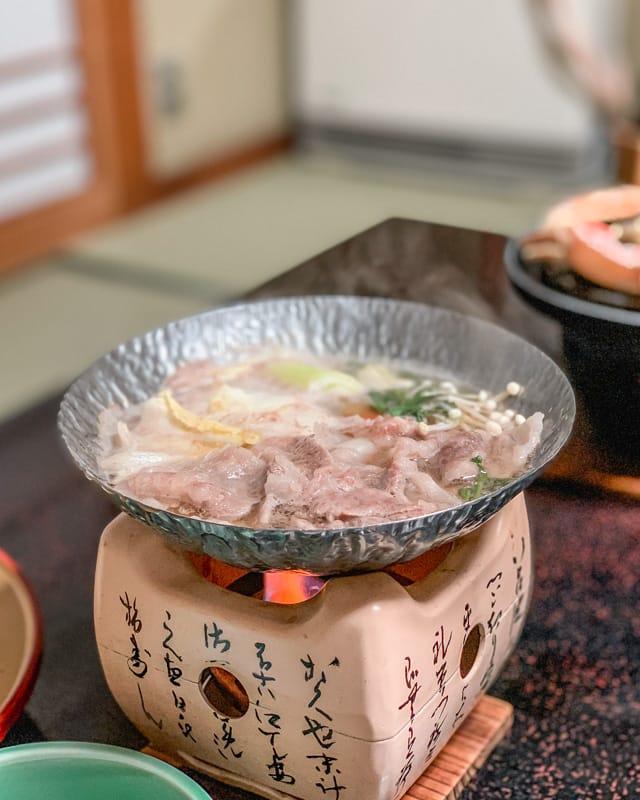Tajima beef hot pot, Kaiseki