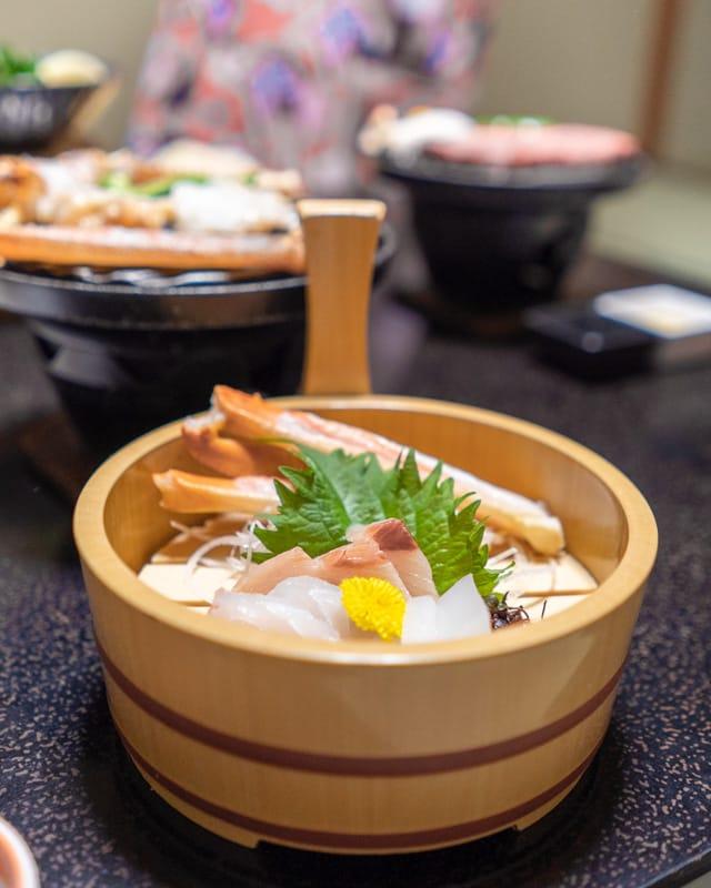 Matsuba snow crab sashimi