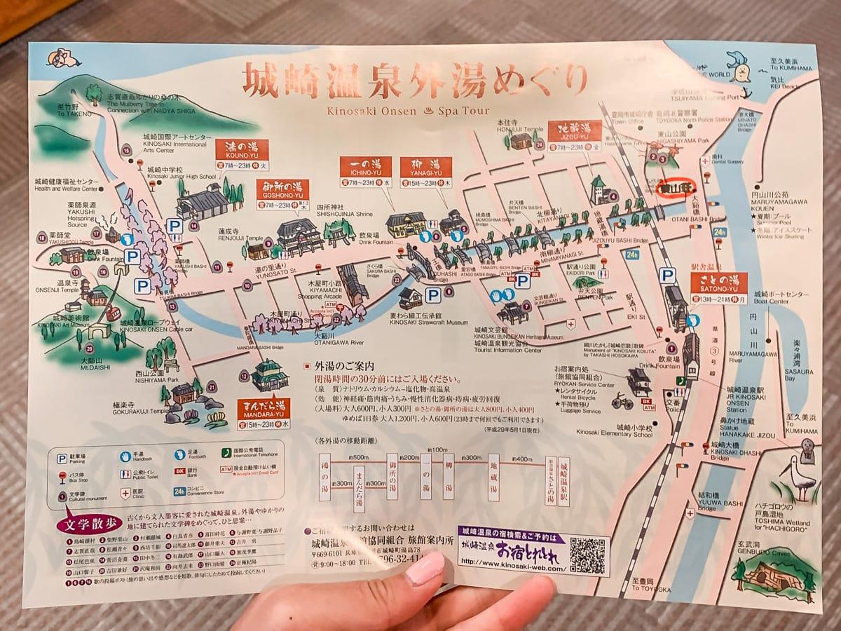 Map of Kinosaki Onsen
