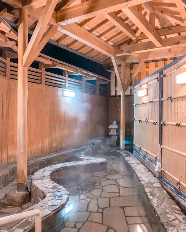 Private onsen in Kinosaki