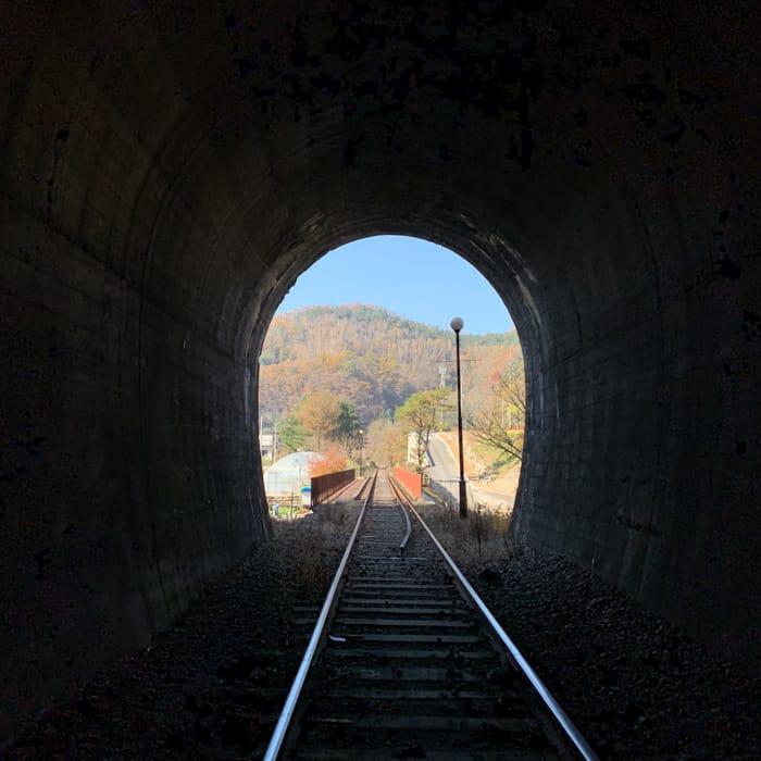Gangchon Rail Park tunnel