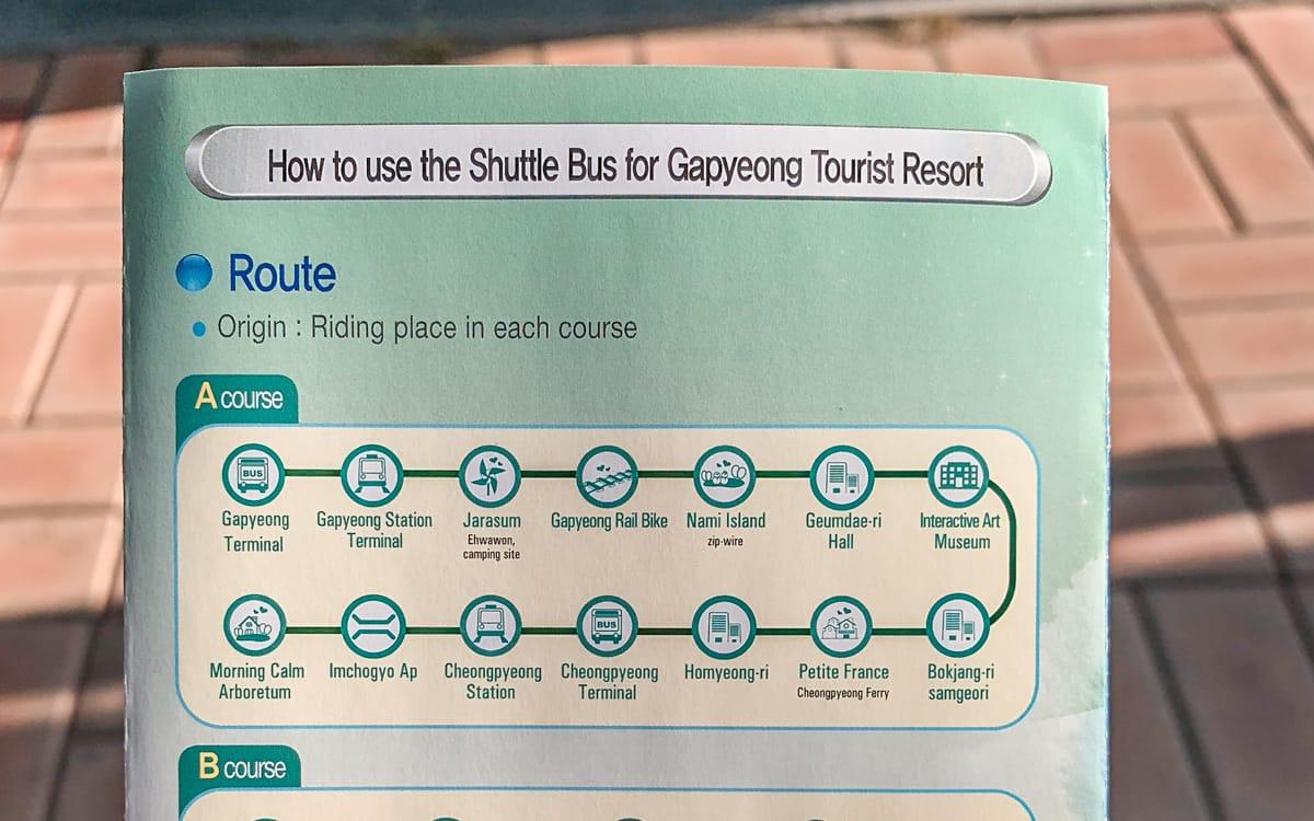 Gapyeong City Bus route