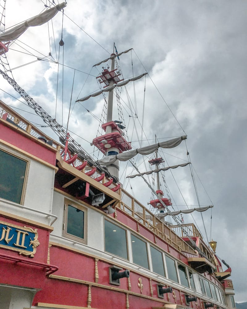Lake Ashinoki Pirate Ship cruise in Hakone