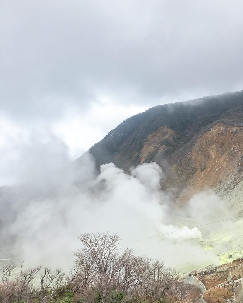 Owakudani in Hakone, Valley of hell