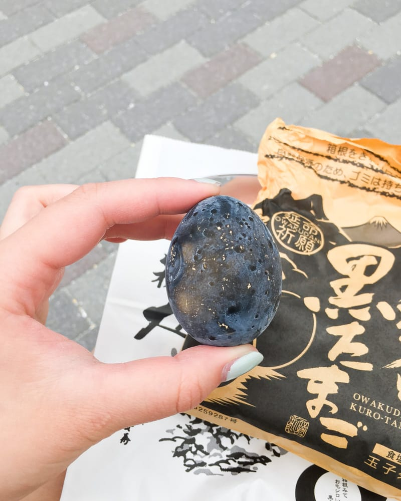Kuro tamago black egg in Owakudani