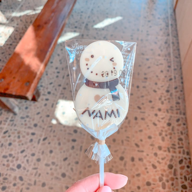 Nami Island Snowman
