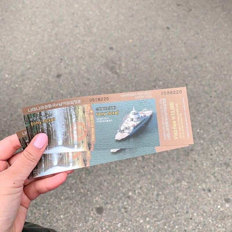 Nami Island tickets
